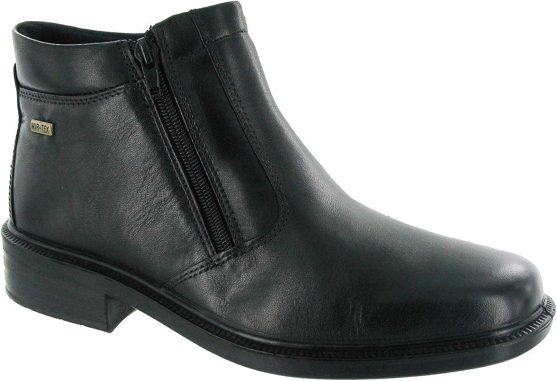 Cotswold Mens Mens Kelmscott Leather Waterproof Chelsea Dealer Boot Black Leather