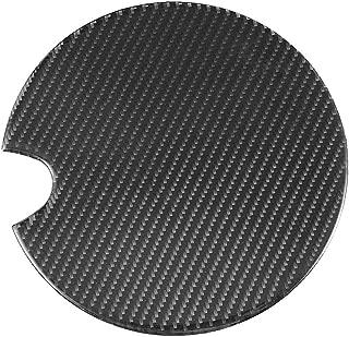Suuonee Fuel Tank Cap Trim, Carbon Fiber Fuel Tank Cap Gas Oil Box Trim Cover Sticker Fit for Mini Cooper R50 R52 R55 R56