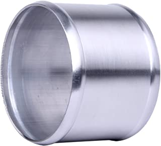 Hiwowsport Alloy Aluminum Hose Adapter 76mm Length Joiner Pipe Connector Silicone (102mm (4 inch))
