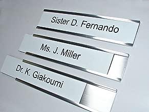 204mm x 51mm Engraved Door Sign Custom Made