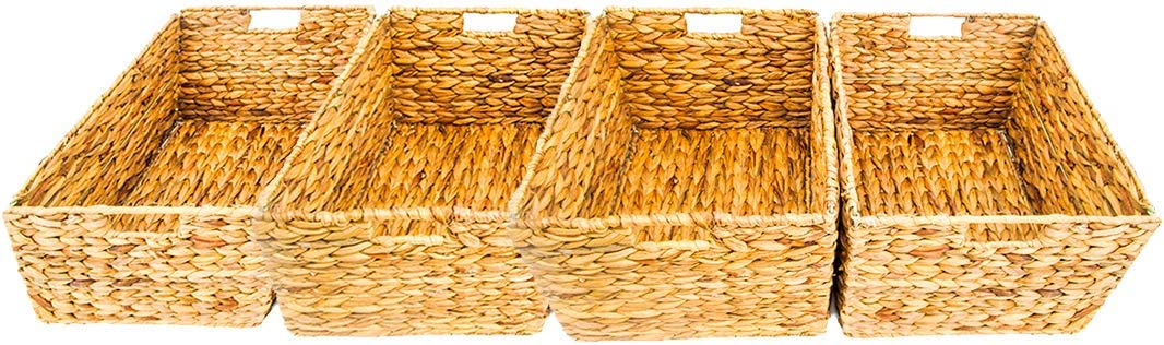 Trademark Innovations Lowest price challenge Large Directly managed store Foldable Rectangle Wicker Bask Woven