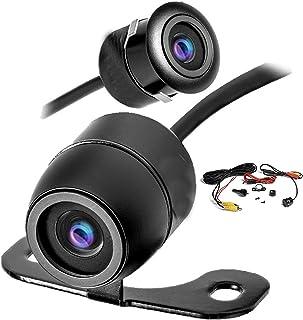 YMPA Rückfahrkamera Kamera Farbe Zwei Verschiedene Einbau Möglichkeiten Metallgehäuse schwarz mit 6 Meter Kabel für Monitor Auto KFZ PKW Wohnmobil Transporter klein 170 180 RFK BF