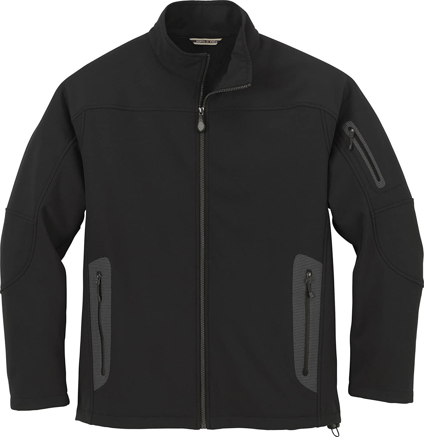 North End Mens 3-Layer Fleece Soft Shell Technical Jacket. 88138 - Large - Black