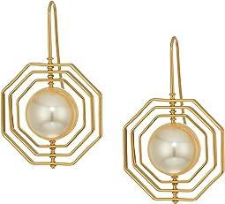 Tory Burch Geo Pearl Earrings