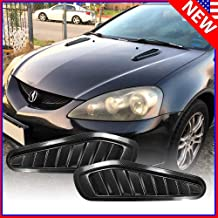 native gear Universal Carbon Fiber Fake Decorative Hood Turbo Intake Scoop Grille Air Flow Vent