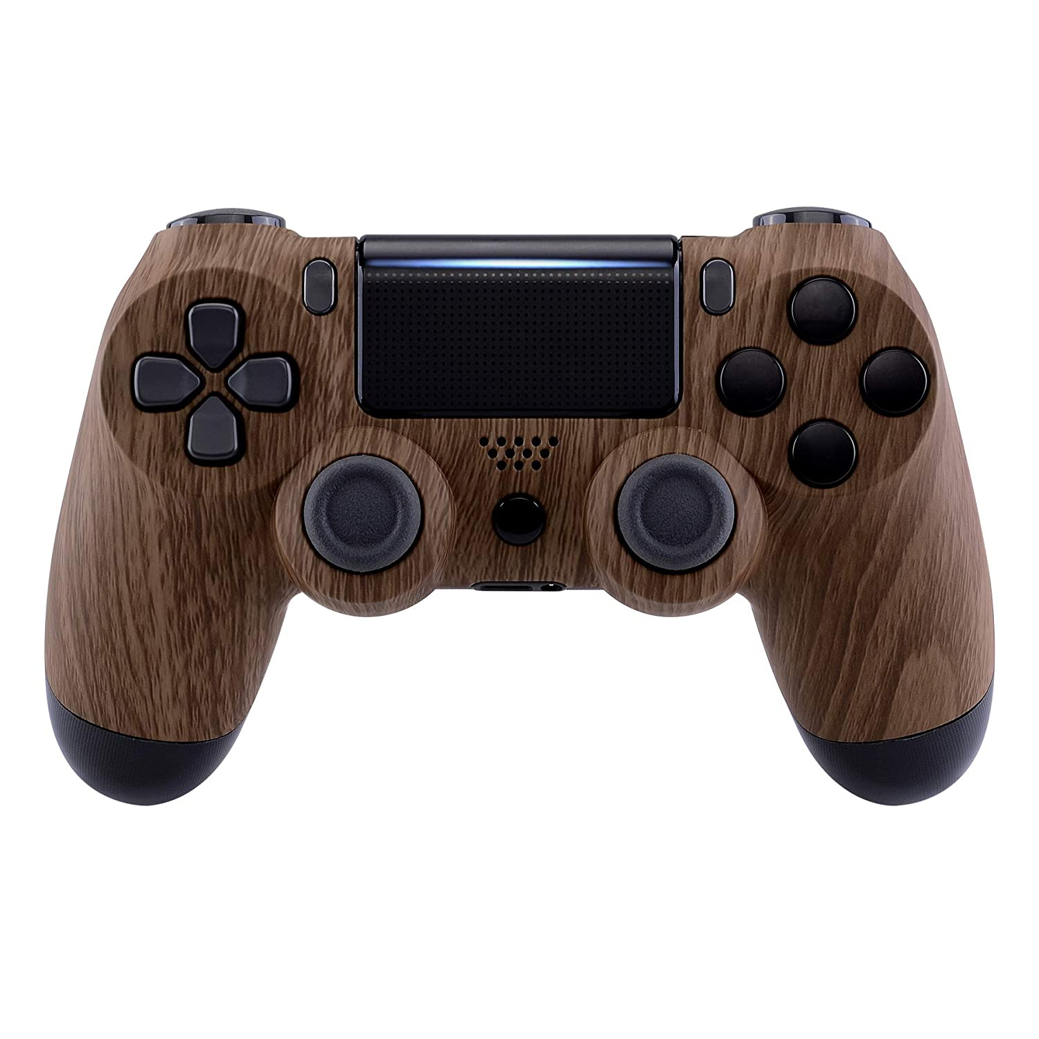 eXtremeRate Brown Wood Grain Pattern San Jose Mall Touch Be super welcome Cover Soft Faceplate