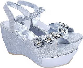 Digni Women's Wedges Sandal Open Toe Buckle Ankle Strap Flatform Wedge Sandal