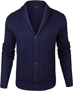 iClosam Maglioni Cardigan da Uomo Manica Lunga Collo A V Slim Giacca in Maglia Coat Jacket Primaverile Invernale