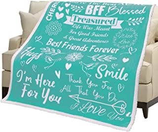 Luxe Extreme Best Friend Blanket - Birthday Gifts for Friends Female, Personalized Blanket, Sisters Gifts from Sister, Thr...