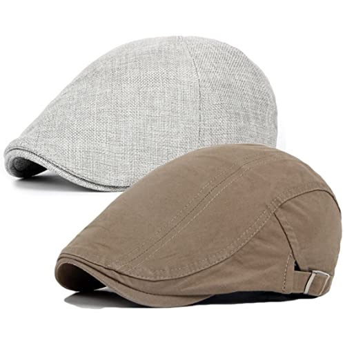ce1e1583 Qunson Men's Duckbill Ivy Newsboy Cap Scally Hat Pack ...