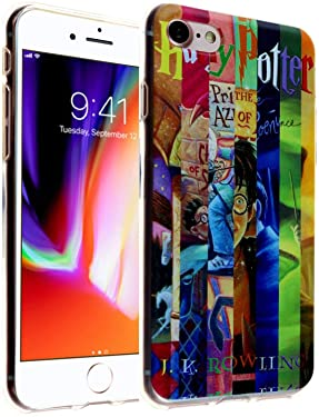 iPhone SE 2020 Books Collection TPU Case Shock Proof Never Fade Slim Fit Cover for iPhone SE 2020 Prisoner of Azkaban Goblet of Fire Chamber of Secrets