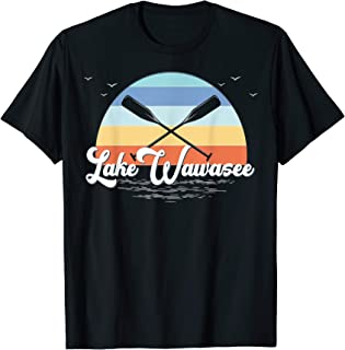 Lake Wawasee Syracuse Indiana Retro Lake T-Shirt
