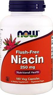 Now Foods, Flush-Free Niacin, 250 mg, 180 Veg Capsules