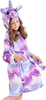 Soft Unicorn Hooded Bathrobe Sleepwear - Unicorn Gifts for Girls