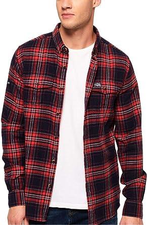 Superdry - Camisa casual - Cuadros - Manga larga - para ...