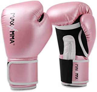MaxxMMA Pro Style Boxing Gloves for Men & Women, Training Heavy Bag Workout Mitts Muay Thai Sparring Kickboxing Punching Bagwork Fight Gloves