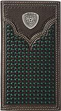 Ariat Men's Ariat Shield Rodeo Wallet w/Turquoise Basketweave Inlay