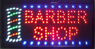 CHENXI Led Barber Shop Business Store Hair Cutting Shop Open Signs 48X25 cm Indoor Ultra Bright Daily Using Shop Store Sign of Led (48 X 25 cm, Barber Shop)
