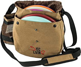 Disc Living Disc Golf Bag | Frisbee Golf Bag | Lightweight Fits Up to 10 Discs | Belt..