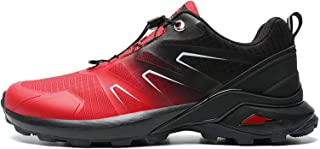 Mens Waterproof Walking Shoes Lace Up,Hiking Boots,Lightweight Breathable Trail Running Trainers,Footwear for Hiking & Tre...