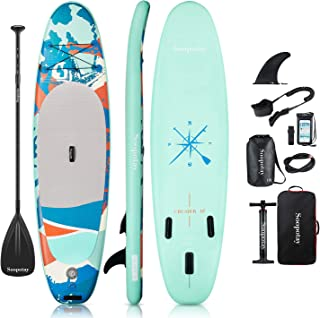 Soopotay Inflatable SUP Stand Up Paddle Board, Inflatable SUP Board, iSUP 10' x 32'' x 6''