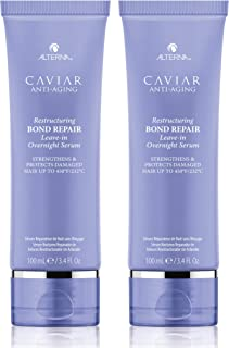 CAVIAR Anti-Aging Restructuring Bond Repair Leave-in Overnight Serum, 3.4-Ounce (2-Pack)