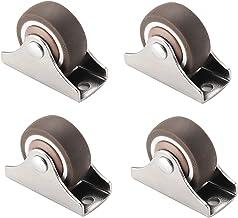 MeubelCaster,4 stuks Mute Fixed Caster,Kast Tafelwielen, 1,25 inch Slijtvast/Bruin/45x20,5x35mm