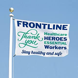VinMea Flag Political Banner 3x5 Feet Frontline Healthcare Heroes Essential Workers - Flags for Yard Garden Outdoor Decora...