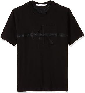 Calvin Klein Men's TAPING THROUGH MONOGRAM REG T-Shirt