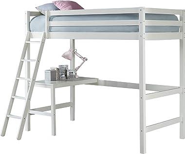 Hillsdale Furniture Caspian Twin Loft Bed, White