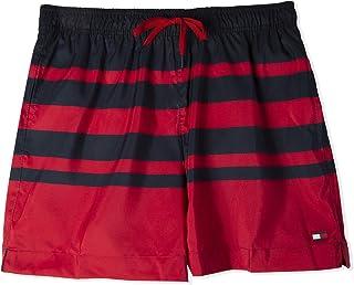 تومي هيلفجر شورت رياضة للجنسين , مقاس XXL , اللون احمر و اسود
