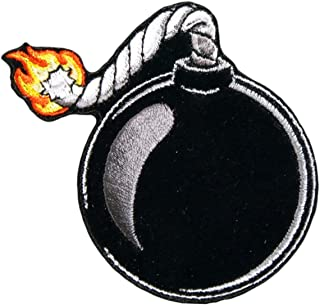 """Officially Licensed Originals Ball Bomb, High Thread Embroidered Iron-On/Saw-On Rayon Patch - 3"""" x 3"""""""