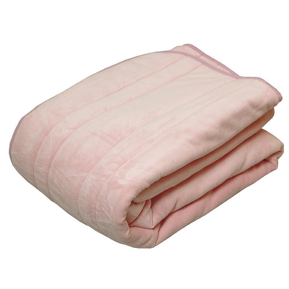 安らぎ依存主に東京西川 敷きパッド シングル リバーシブル マイレパートリー 無地 ピンク PM07002071P