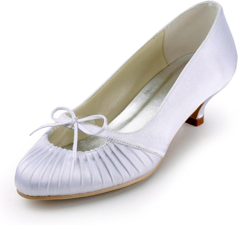 Zioso TMZ342 Women's Kitten Heel Satin Bridal Wedding Evening Formal Party Pumps shoes