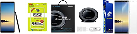 $639 Get Straight Talk Samsung Galaxy Note 8 64GB Midnight Black With Free Samsung Quick Charge Wireless Charging Pad & Armorsuit Screen Protector Bundle