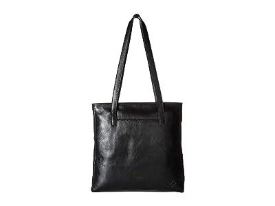 Patricia Nash Heritage Viana North/South Tote (Black) Tote Handbags
