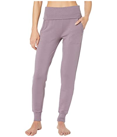 Beyond Yoga Fleece Fold-Over Sweatpants (Wild Orchid) Women