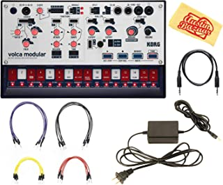 Korg Volca Modular Synthesizer Bundle with Power Supply and Austin Bazaar Polishing Cloth