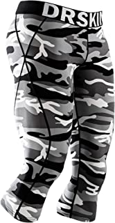 DRSKIN Men's 3/4 Compression Tight Pants Base Under Layer Running Shorts Warm Cool Dry