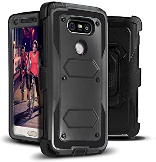 LG G5 Case, Jwest [Heavy Duty Belt Clip Kickstand] Full-body Rugged G5 Holster Case Dual Layer Hybrid Protective Cover WITHOUT Built-in Screen Protector for LG G5 2016 Black