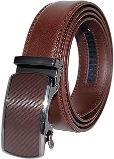 أحزمة جلدية حقيقية للرجال اللباس بحزام سقاطة قابل للتعديل إبزيم صناعي راعي البقر