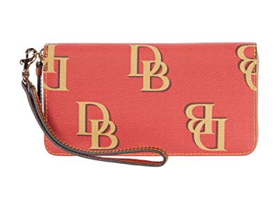 Dooney & Bourke Monogram Large Zip Around Wristlet
