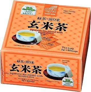 OSK Japanese Green Tea, Roasted Rice, 2g x 50 bags