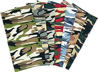 7 PCS 48x48cm Cotton Craft Camouflage Fabric Bundle Squares Quilting Sewing Patchwork Cloths DIY Scrapbooking Artcraft (Ca...