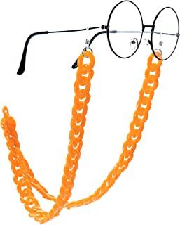 Wento Women's Eyeglass Chains Acrylic Chain Marble Texture Sunglasses Holder