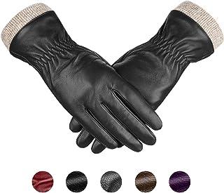 دستکش چرمی پوست گوسفند اصلی ، دستکش لباس موتور سیکلت با صفحه لمسی گرم و گرم