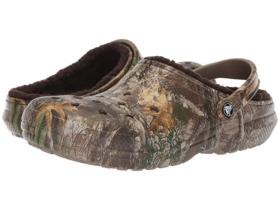 Crocs Classic Lined Realtree Edge Clog (Chocolate/Chocolate) Clog Shoes