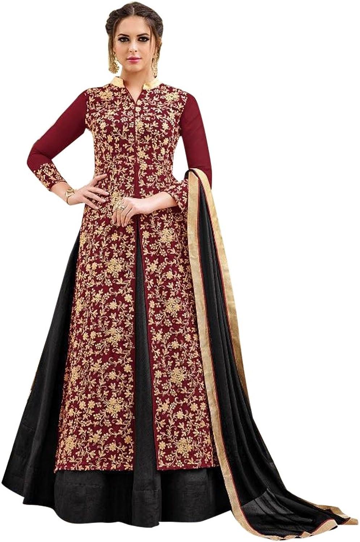 Bollywood Collection Pakistani Anarkali Salwar Suit Bridal Wedding Ceremony Punjabi Muslin Eid 825 6