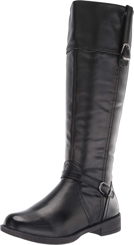 Propet Women's Tasha Equestrian Boot, Black, 6.5