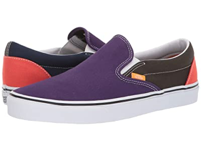 Vans Classic Slip-Ontm ((Mix & Match) Violet Indigo/Forest Night) Skate Shoes